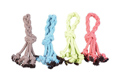DOGTOY SCOOBY ROPE KNOT WITH LOOP 30,5CM mixed colors