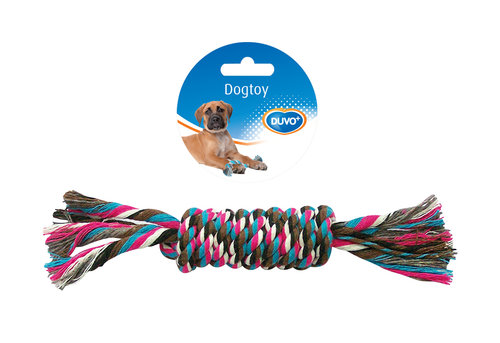 DOGTOY TUG TOY KNOTTED COTTON DUMMY 23CM mixed colors