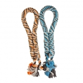 TWISTED COTTON ROPE WITH KNOTS 3,2 CM