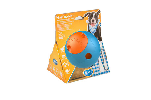 DOGTOY FOOBLER MINI SMART TREAT DISPENSER + TIMER blue