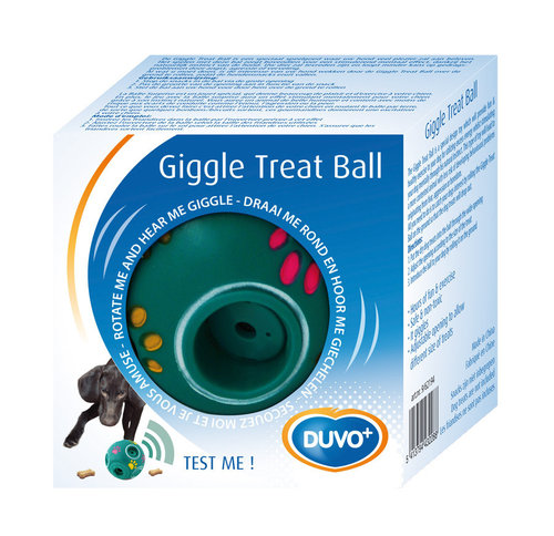 DOGTOY PLASTIC TOY GIGGLE TREAT BALL
