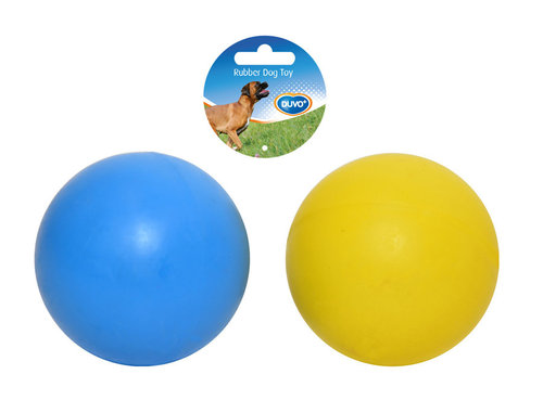 DOGTOY RUBBER BALL 5CM blue/yellow