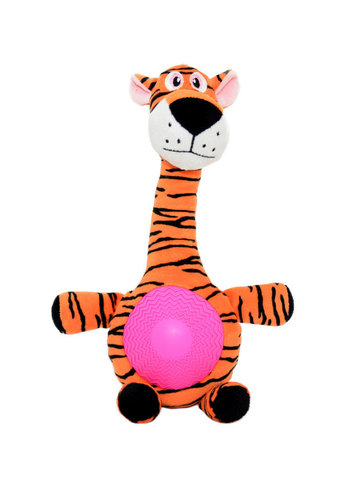 DOGTOY PLUSH TIGER WITH SQUEAKER BELLY