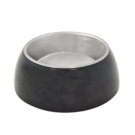 "DINNER TIME ""DT Feeding bowl + socket """" Glossy Uno"""""" Ø 15,8CM - LARGE black"
