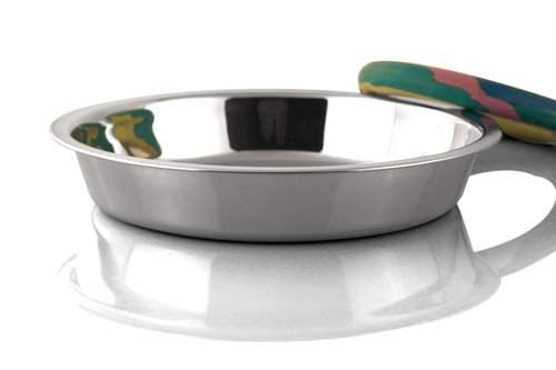 INOX PUPPY FEEDING TRAY 740ML 20