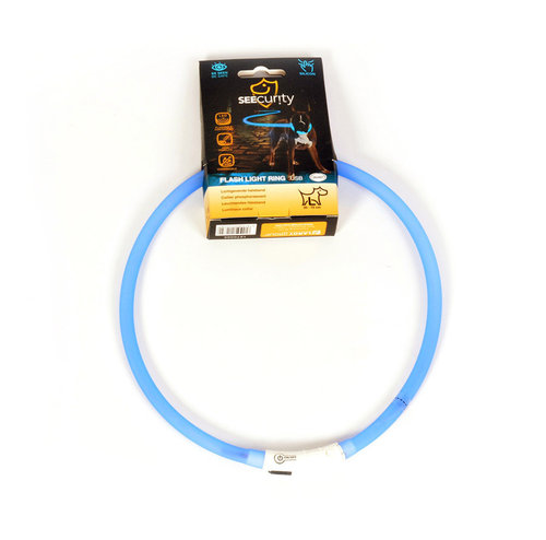 SEECURITY RING FLASH LIGHT USB SILICON 70cm blue