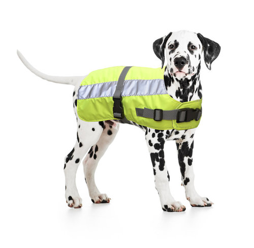 FLECTALON HI VIS DOG JACKET RUGLENGTE 30CM yellow